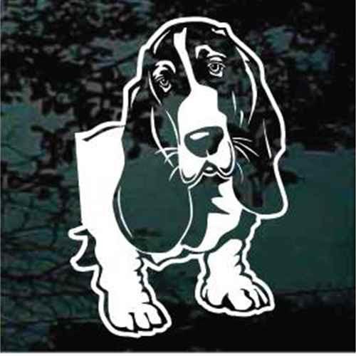 Basset Hound Head Side View Decals