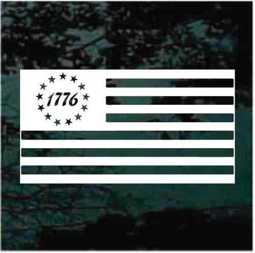 1776 Flag Window Decals