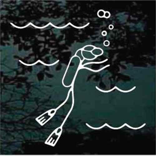 Stick Family Scuba Diver Decals