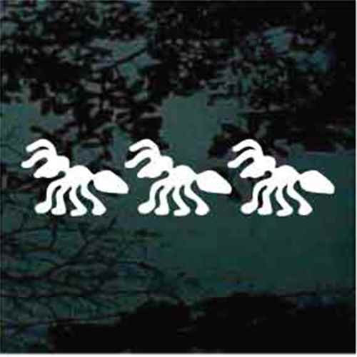 Three Solid Ants Window Decals