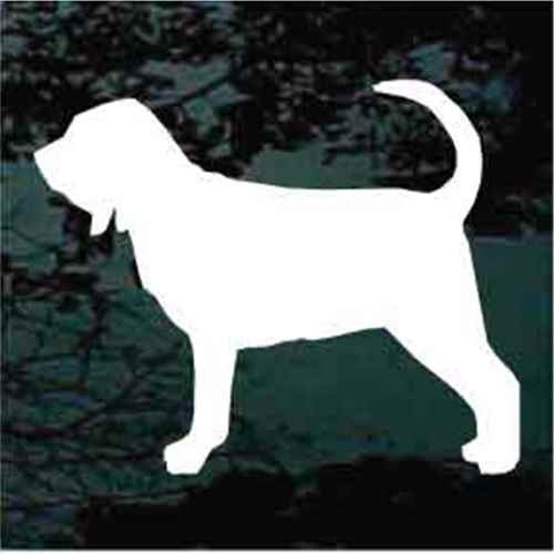 Solid Bloodhound Standing Window Decal