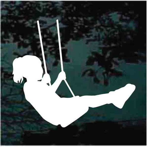 Young Girl In Swing Decals