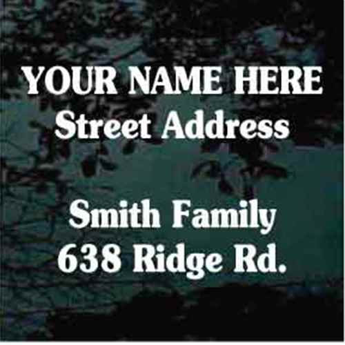 Souvenir Font Mailbox Address - Set of Two