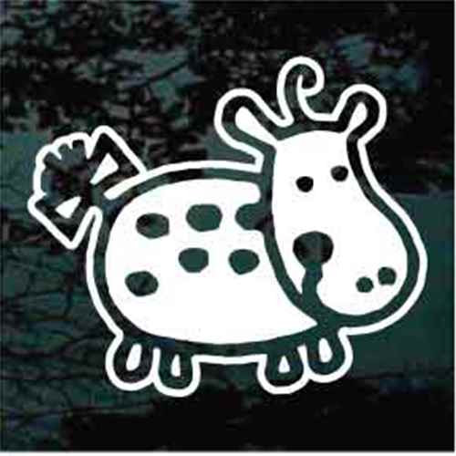 Polka Dot Hippo Window Decals