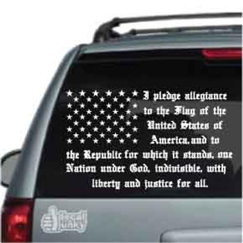 Pledge Of Allegiance Flag Car Decals