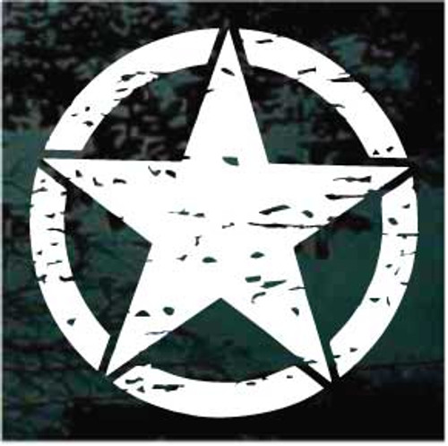 Distressed Military Star Jeep Decals