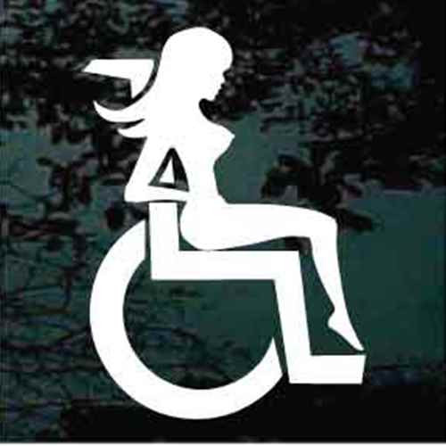 Mudflap Girl In Wheelchair Window Decal