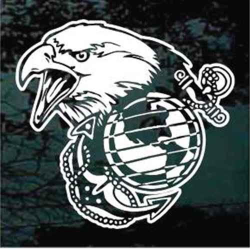 Eagle Head Marines Decals