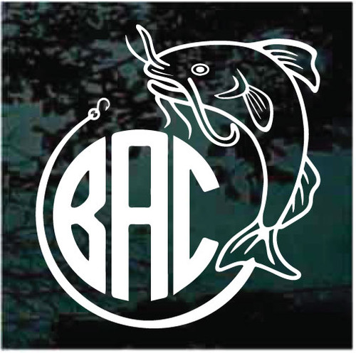 Catfish Monogram Window Decals