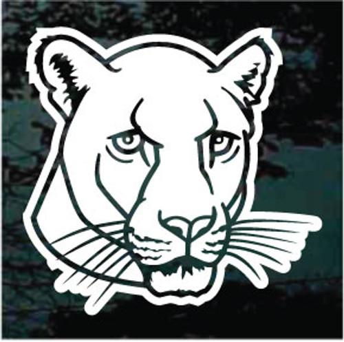 Amazing Panthers Mascot Window Decals