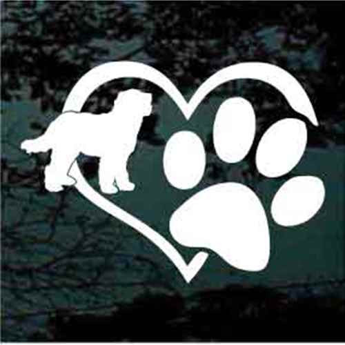 Goldendoodle Heart Paw Window Decal