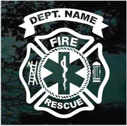 Fire Dept  Firefighter Decals & Stickers Personalized | Decal Junky