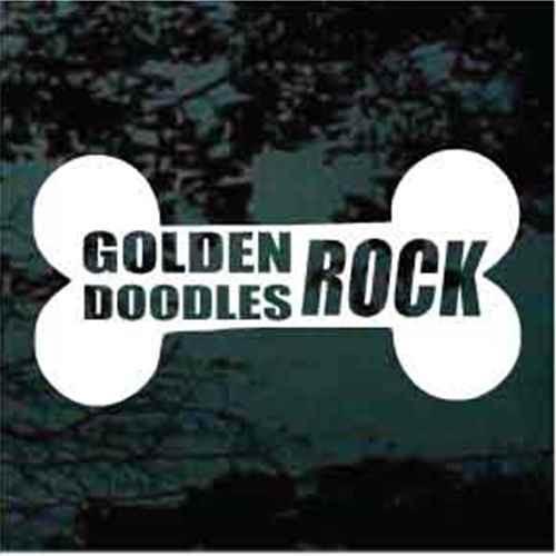 Goldendoodles Rock Window Decal