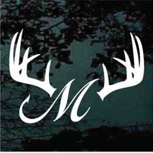 Deer Antlers Fish Hook Monogram