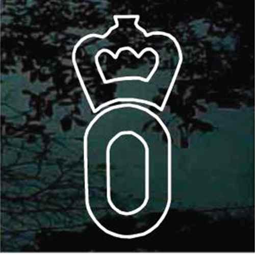German Oldenburg Horse Breed Logo Window Decals