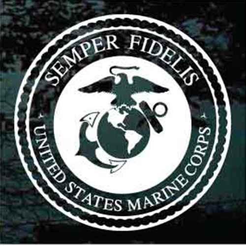 USMC Marines Logo Window Decals