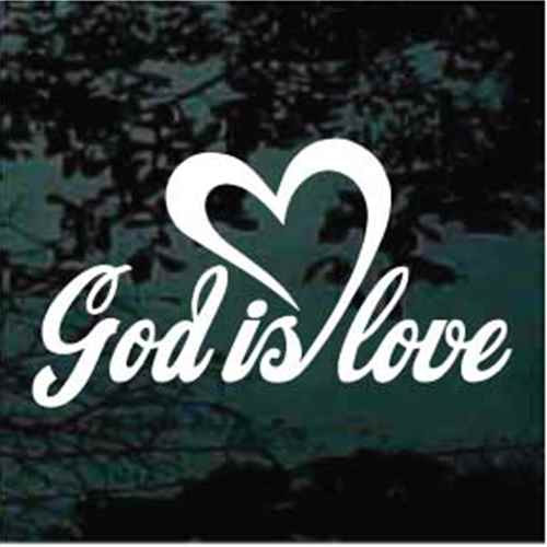God Is Love Heart Decals
