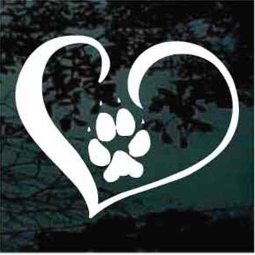 807729f75506 Dog Paw Prints Decals   Window Stickers Personalized