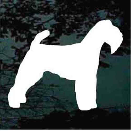 Welsh Terrier Silhouette Window Decal
