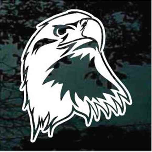 Side View Eagle Head Window Decals