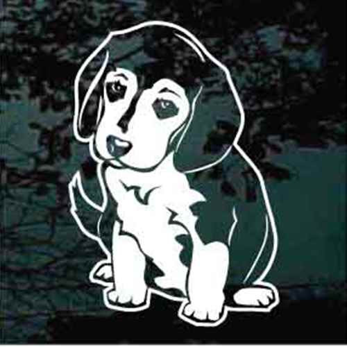 Beagle Puppy Sit Decal