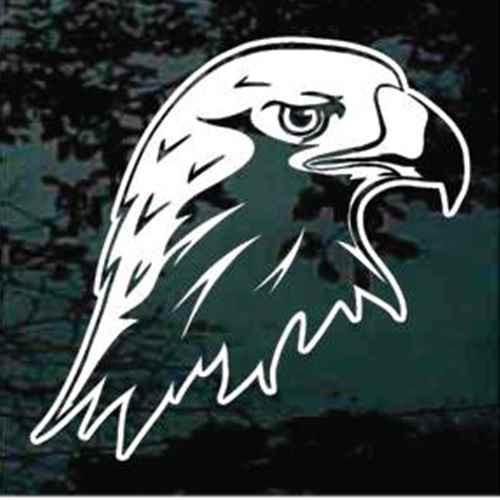 Eagle Head Profile Window Decals