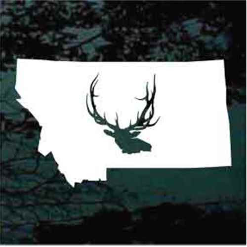 State Elk Hunter Window Decals