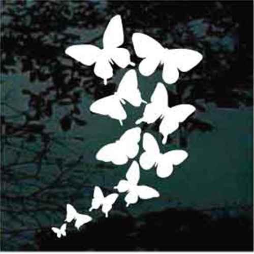 Butterflies Kaleidoscope Window Decals