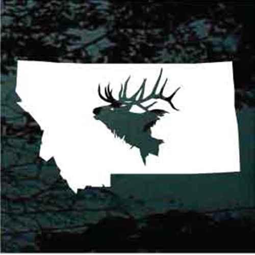State Elk Hunting Window Decals