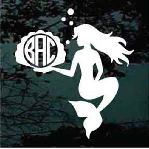 Mermaid Circle Monogram