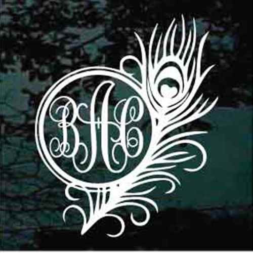 Feather Interlocking Script Monogram
