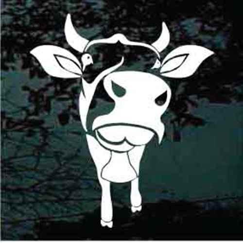 Cow Looking Window Decals