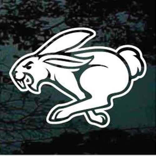 Rabbit Running Window Decals