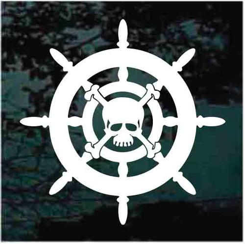 Captain's Wheel With Skull & Crossbones Decals