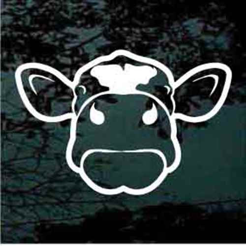 Cow Face Window Decals