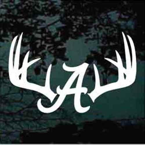 Deer Antlers Alabama Monogram