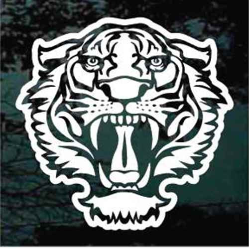Tiger Head Mascot Window Decals
