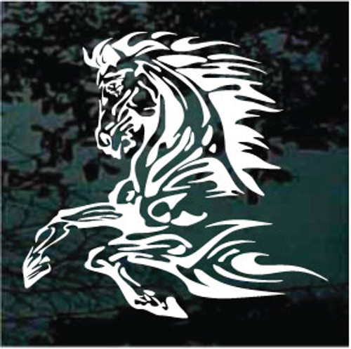Flaming Horse Window Decal