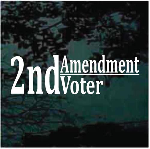 2nd Amendment Voter Window Decals