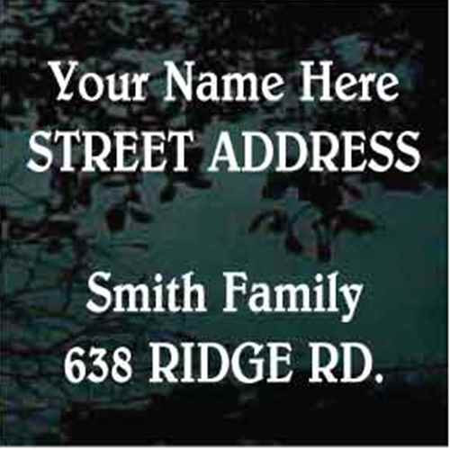 Street Address Belwe Font Mailbox - Set of Two