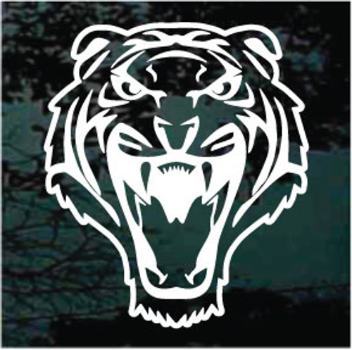 Tiger Head Cut Out Mascot Window Decals