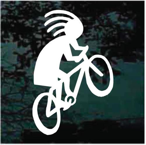 Kokopelli Riding Bicycle Decals