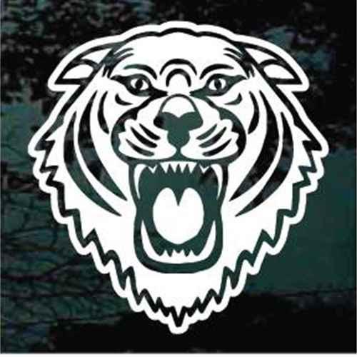 Growling Tiger Head Window Decals