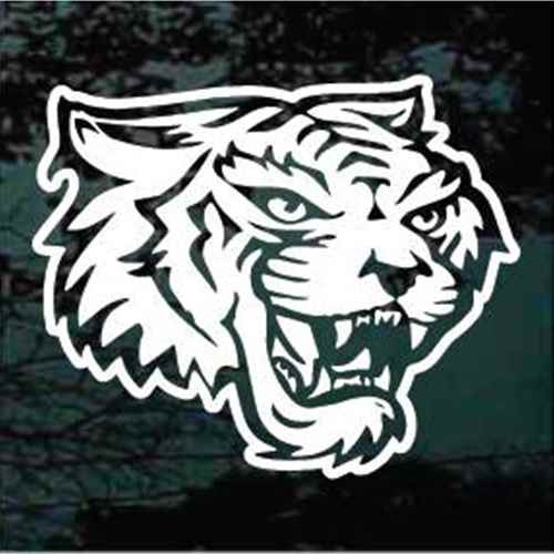 Detailed Tiger Head Mascot Window Decals