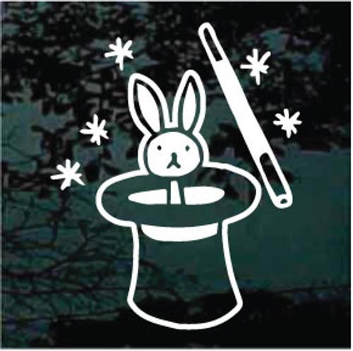 Bunny Rabbit In The Hat Window Decals
