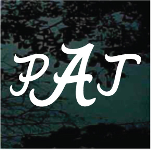 Alabama Monogram Window Decals
