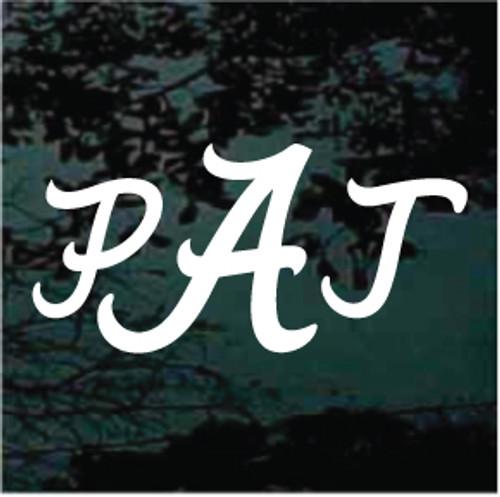 Alabama Monogram Decals