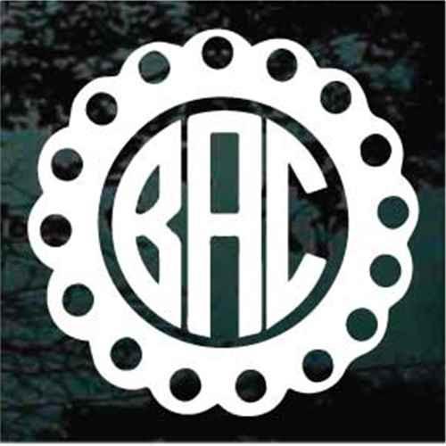 Scalloped Circle Monogram
