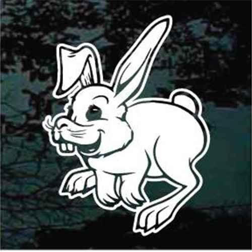 Laughing Rabbit Cartoon Decals