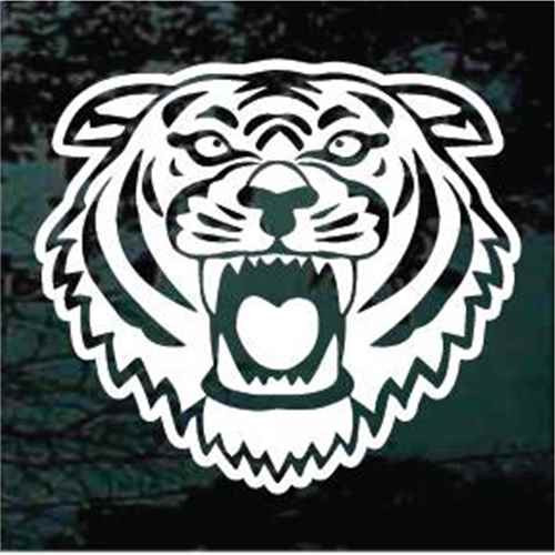 Tiger Face Mascot Window Decals